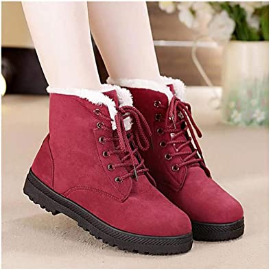 Amazon.com | Classic Women Snow Boots Winter Boots Women Lace Up .