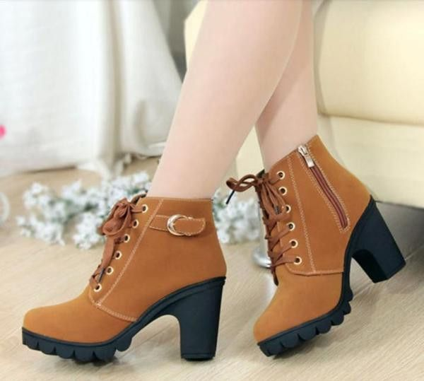 Classic Ankle Length Female Boots | Leather fashion boots, Womens .