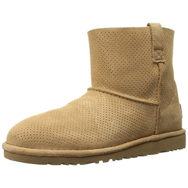 Shop Ugg Womens Classic Ankle Boots Perforated Suede - Overstock .