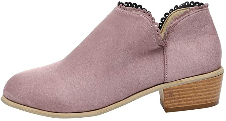 Amazon.com | vermers Women Fashion Round Toe Boots - Women Classic .