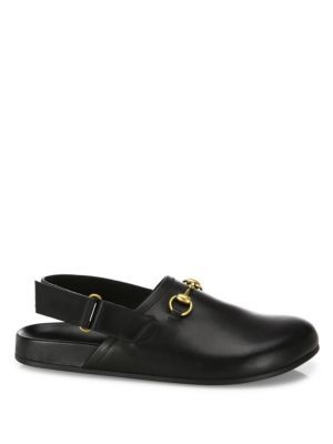 Gucci Horsebit Leather Slipper In Black | ModeSens | Leather .
