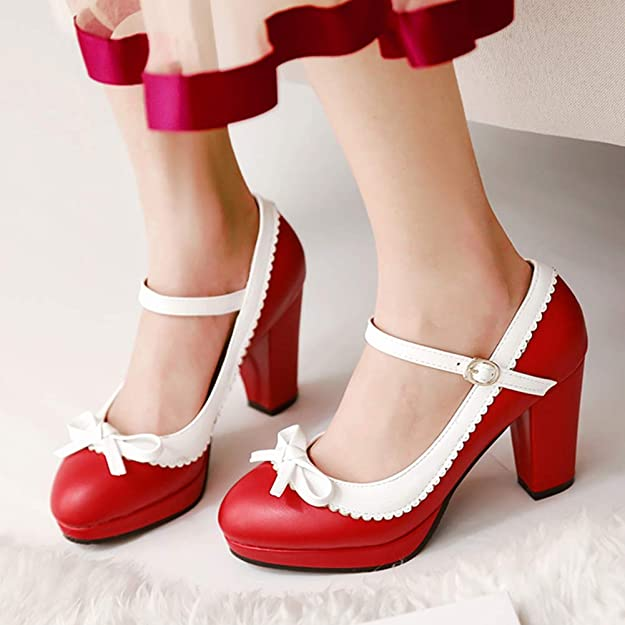 Heels Clothing, Shoes & Accessories Sweet Womens Round Toe Mid .