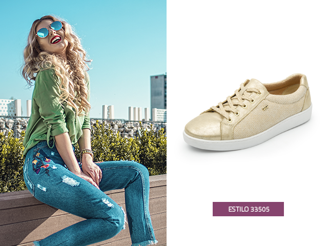 How to combine your golden shoes? Top 3 outfits - Fashion Shoe .