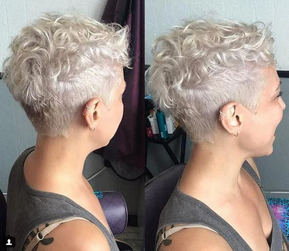 Cool Pixie Style For Curvy Haircut #shortcurlypixie in 2020 .