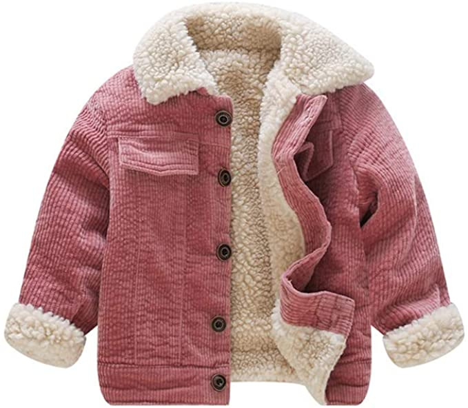 Amazon.com: Stesti Winter Coat for Baby Girl Corduroy Jackets Kids .