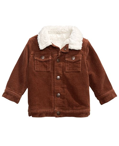 First Impressions Baby Boys Faux Fur-Trim Corduroy Jacket .