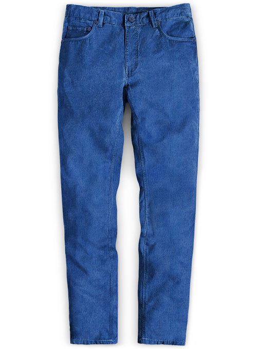 Turkish Blue Stretch Corduroy Jeans - 21 Wales : MakeYourOwnJeans .