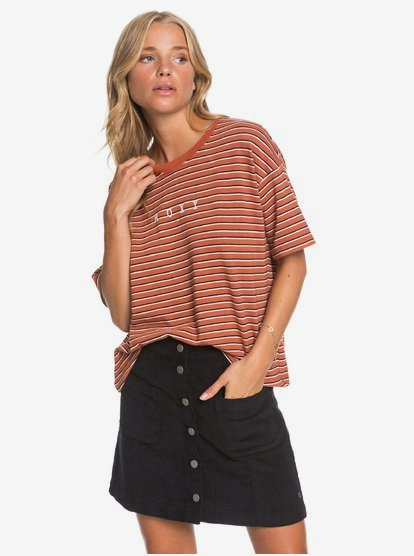 Warning Sign Buttoned Corduroy Skirt ERJWK03090 | Ro