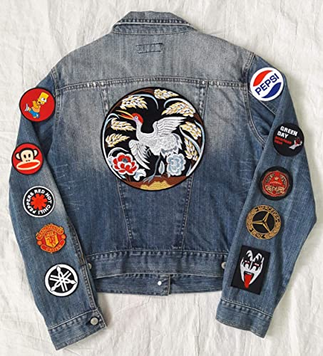 Amazon.com: Hand reworked vintage jean jacket with patches .