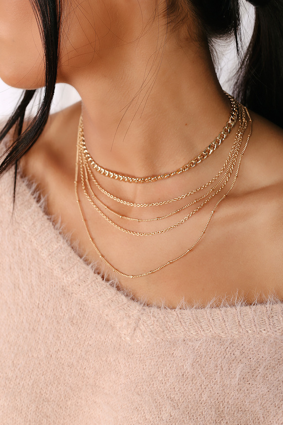 Cute Gold Necklace - Chain Necklace - Gold Layered Neckla