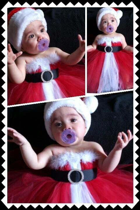 10 Cute Santa Dress Up for Baby Girl That Look Pretty | Baby girl .