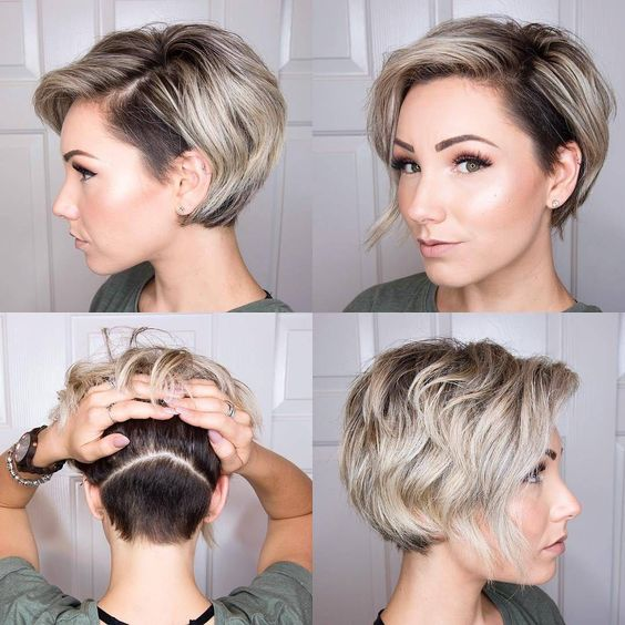 38 Easy and Cute Short Hairstyles For Round Face – Page 6 .