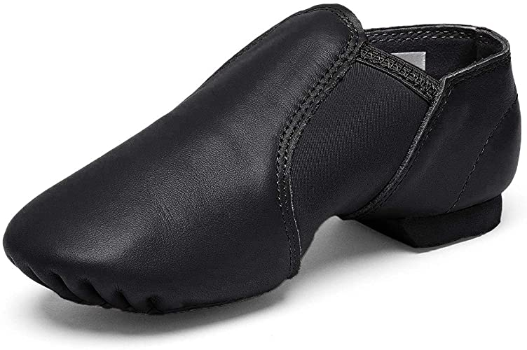 Amazon.com | STELLE Leather Jazz Slip-On Dance Shoes for Girls .