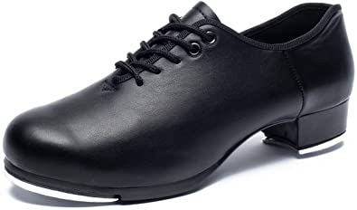 Amazon.com | Joocare Men's Oxford Lace up Jazz Tap Dance Shoes .