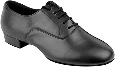 Amazon.com | Go Go Dance Shoes Men's Black Leather Ballroom Shoes .