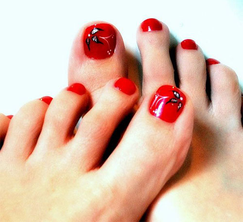 Amazing Christmas Toe Nail Art Designs & Ideas For Beginners .