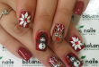 30 Festive and easy Christmas nail art designs you must try .