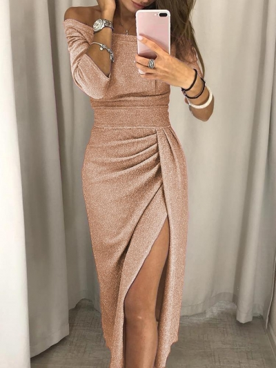 Sexy Off Shoulder Sparkling Bodycon Cocktail Evening Dresses .