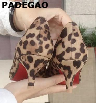 Brand Women Pumps Leopard Shoes Woman High Heels Stiletto Evening .
