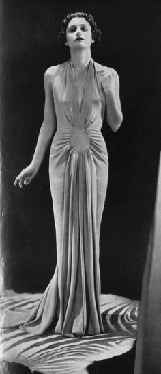 179 Best 1930s Evening Wear Draping images in 2020 | Evening wear .