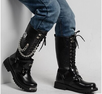 Outdoor fashion rock punk boots mountaineering expedition shoes .