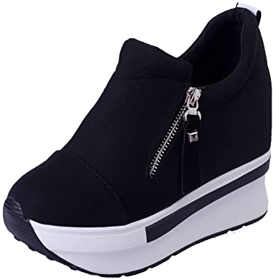 Amazon.com: Women's Girls Fashion Sneakers Thick-Soled Increase .