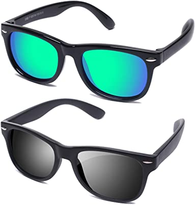 Amazon.com: YAMAZI Kids Sunglasses Polarized Fashion Mirrored .