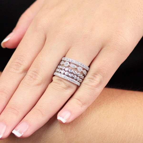Stylish and Fashionable Cheap Sterling Silver Rings for Wom