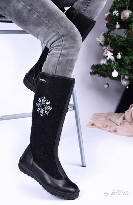 Valenki or Felt Boots are Warm Winter Shoes. These Snow Boots are .