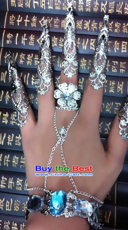 JP: Chinese Empress Hand and Finger Nails Guards | Hand jewelry .