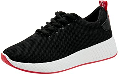 Amazon.com: cobcob Women's Running Shoes,Ladies Mesh Lace Up Solid .