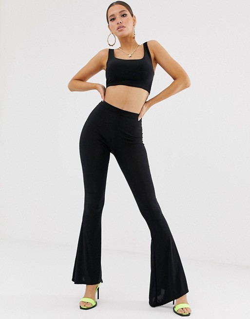 Fashionkilla flared pants in black | AS