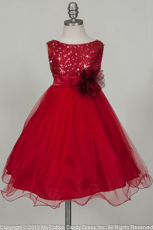 Red Flower Girl Dress | Red flower girl dresses, Flower girl .