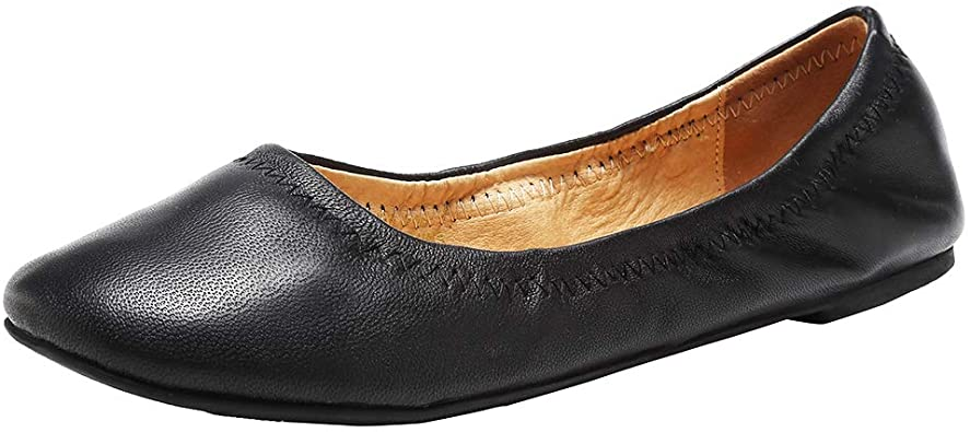 Amazon.com | Women's Ballet Flat Lambskin Loafers Classic Round .