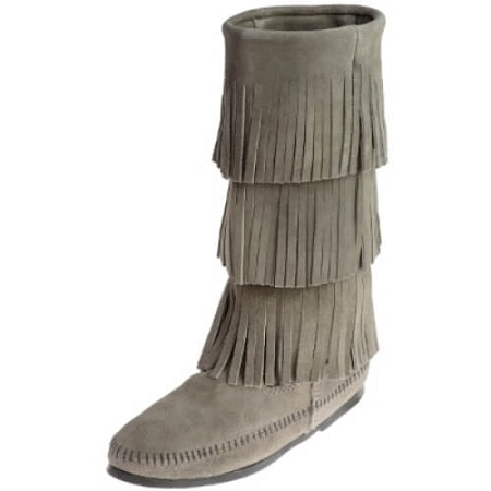 Minnetonka Moccasins 1631T - Women's 3 Layer Fringe Calf High Boot .