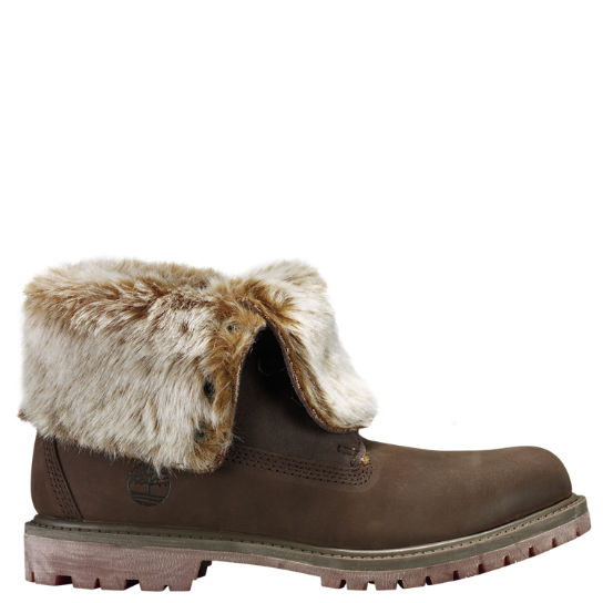 Women's Timberland Authentics Faux Fur Fold-Down Boots .