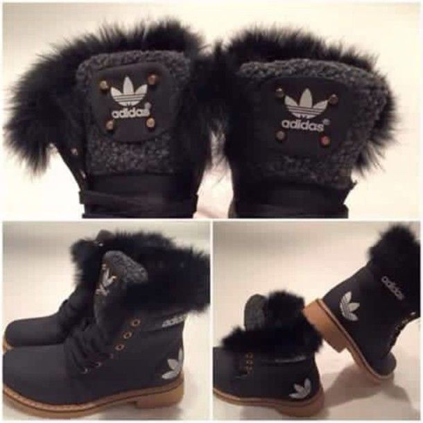 Get the - Wheretoget | Adidas boots, Black fur boots, Adidas shoes .