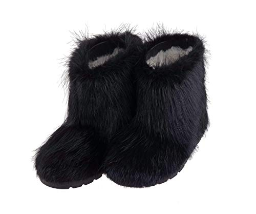 Amazon.com: Black Fur Boots for Women, Mukluk Boots, Yeti Boots .