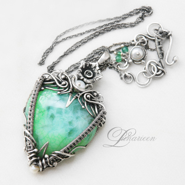 Hand Made Wire Wrapped Gemstone Jewelry by Lunarie