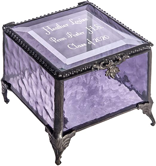 Amazon.com: Personalized Graduation Gift For Her Glass Jewelry Box .