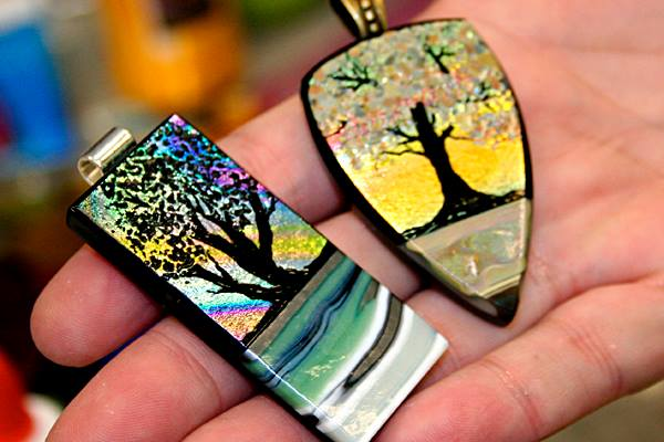 Ed Hoy's Extreme Fused Glass Jewelry Boot Camp Tanya Veit 5 - Ed .