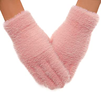 QUXIANG Winter Gloves for Women and Girls, Light Slim Soft Warm .