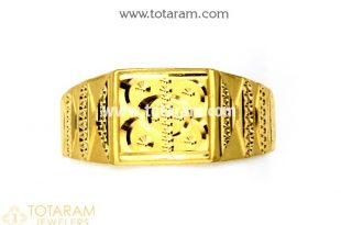 Gold Rings for Men in 22K Gold -Indian Gold Jewelry -Buy Onli