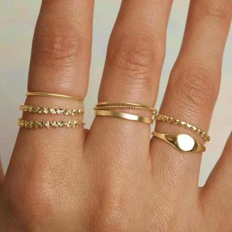 Gold Ring Basics - Stacking Rings – STONE AND STRA