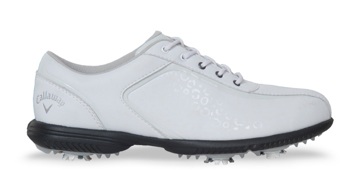CALLAWAY LADIES HALO PRO GOLF SHOES WHITE/LEOPARD | Discount .