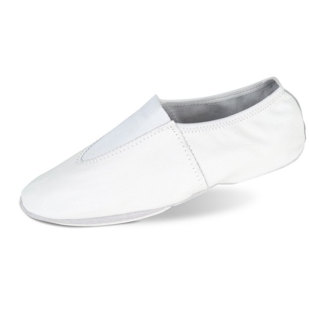 Danshuz Adult White Soft Leather Upper Gymnastic Shoes 4-12 Womens .