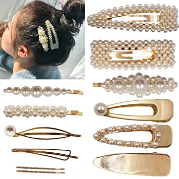 Amazon.com : 12PCS Pearls Hair Clips Elegant Hair Accessories for .