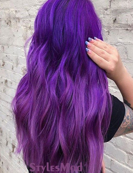 Marvelous Purple Hair Color Ideas & Trends To Try In 2019 .