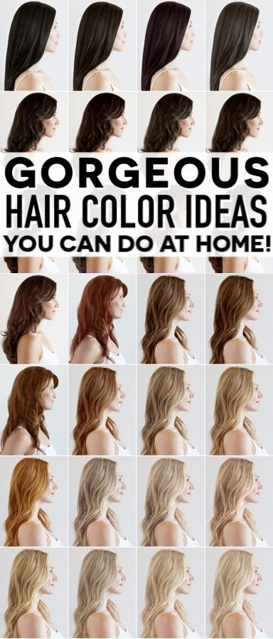 HAIR COLOR IDEAS in 2020 | At home hair color, Hair color, How to .