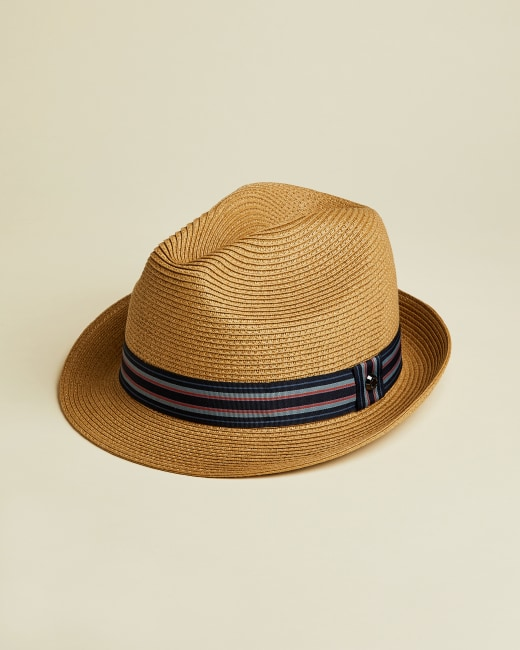 Straw trilby hat - Natural | Hats | Ted Bak